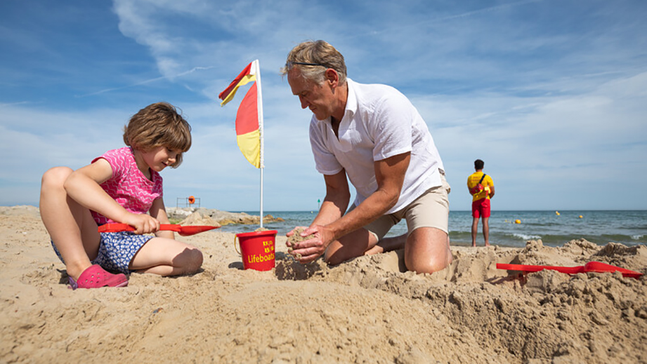 This summer, build a sandcastle on the beach. It's fun for kids – and big kids!