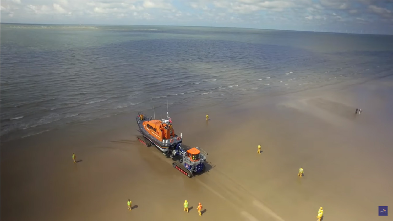 Video thumbnail of a Shannon class lifeboat launching from a beach