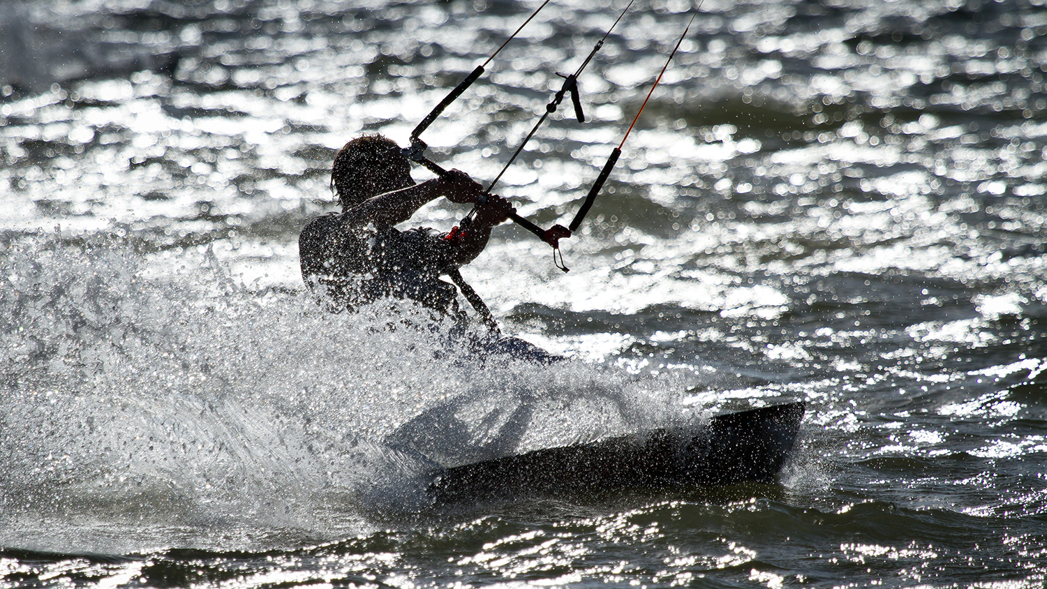 Kitesurfer in Poole Harbour