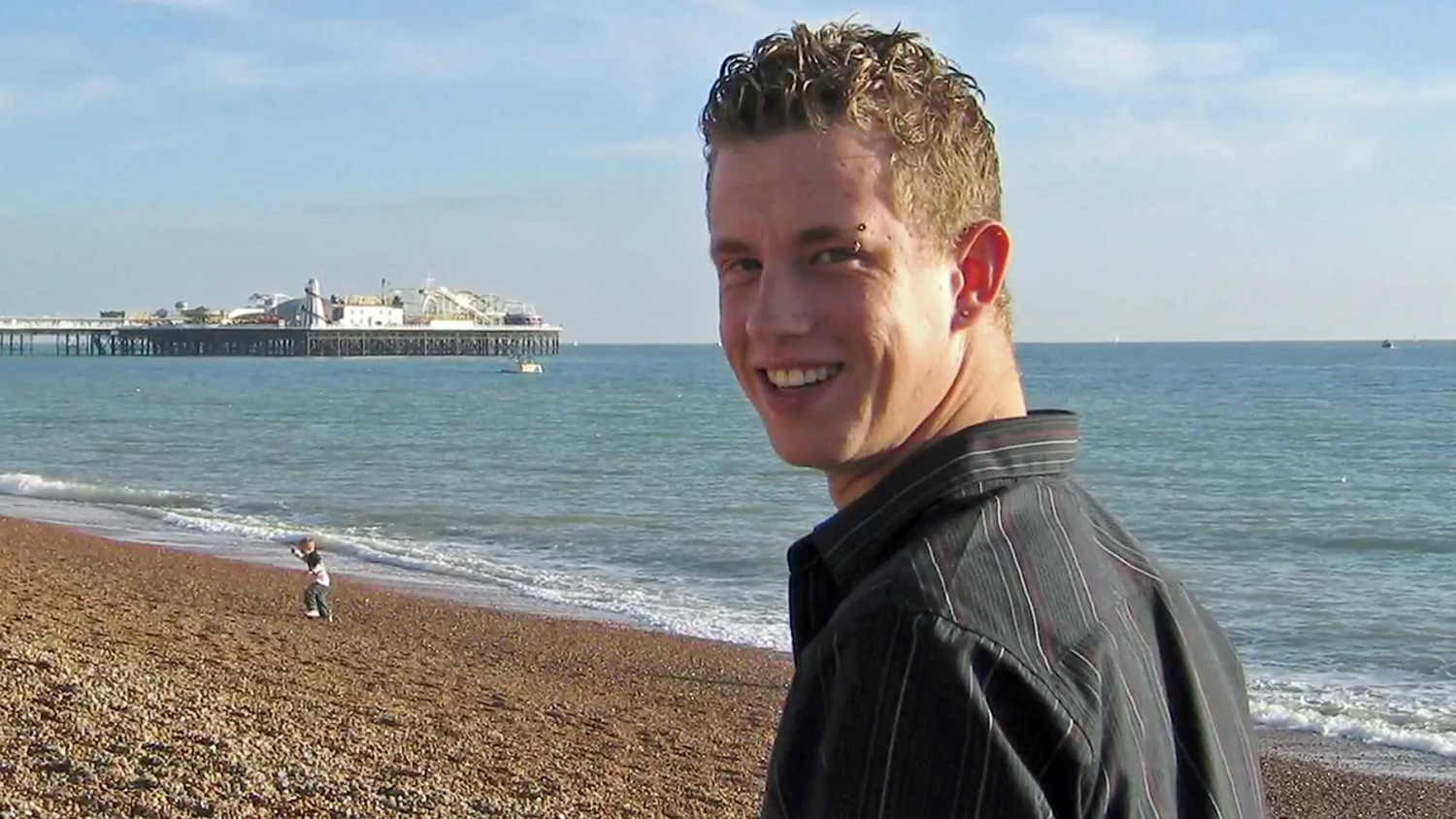 James on Brighton Beach in East Sussex