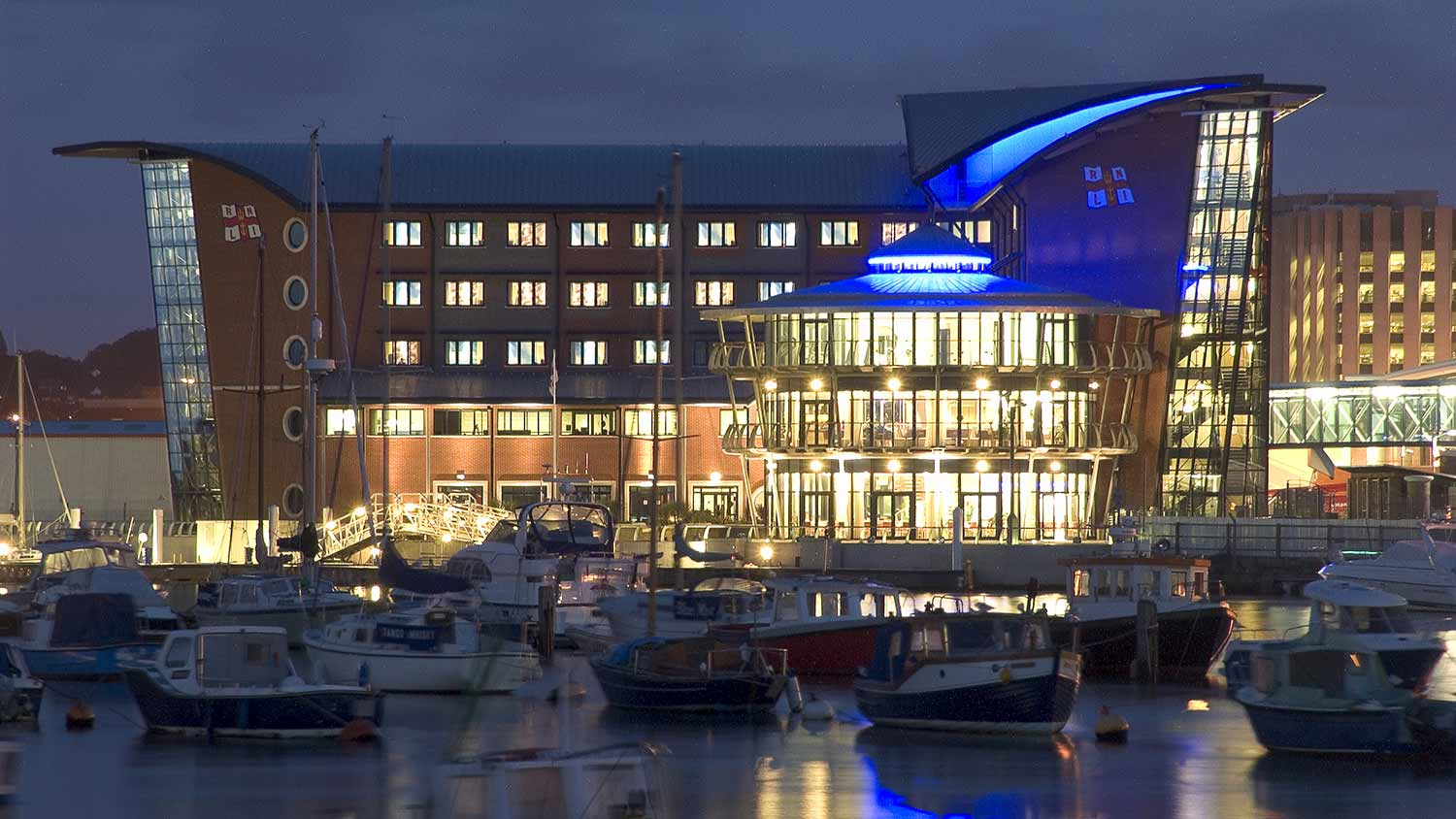 RNLI College at night
