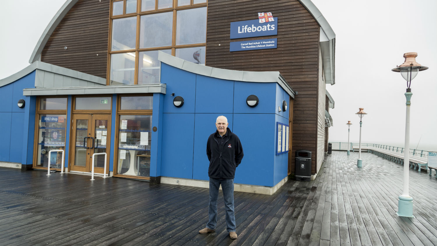 Visitor experience volunteer for The Mumbles RNLI: Lifeboat Visits Officer Sid Wilkins