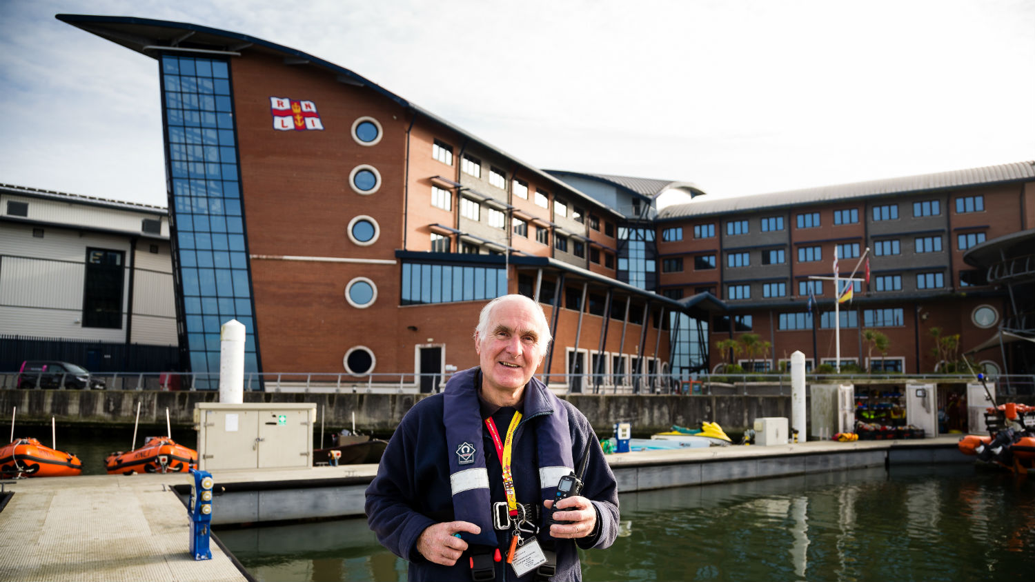 RNLI ambassador Gerald Beddard volunteers as an RNLI College Tour Guide and a bosun