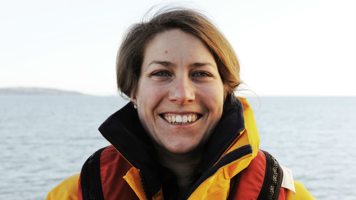 Close up portrait of Torbay RNLI Crew Member Michelle Fox