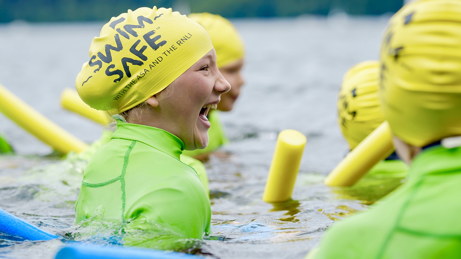 RNLI ASA Swim Safe programme taking place at Lake Windermere in the Lake District