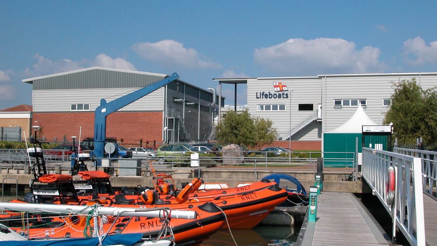 The RNLI Inshore Lifeboat Centre at Cowes on the Isle of Wight