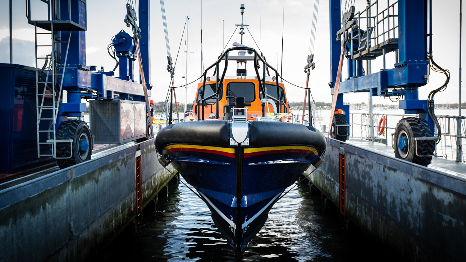 Launch of Cosandra 13-12; the first Shannon class lifeboat to be built at our All-weather Lifeboat Centre