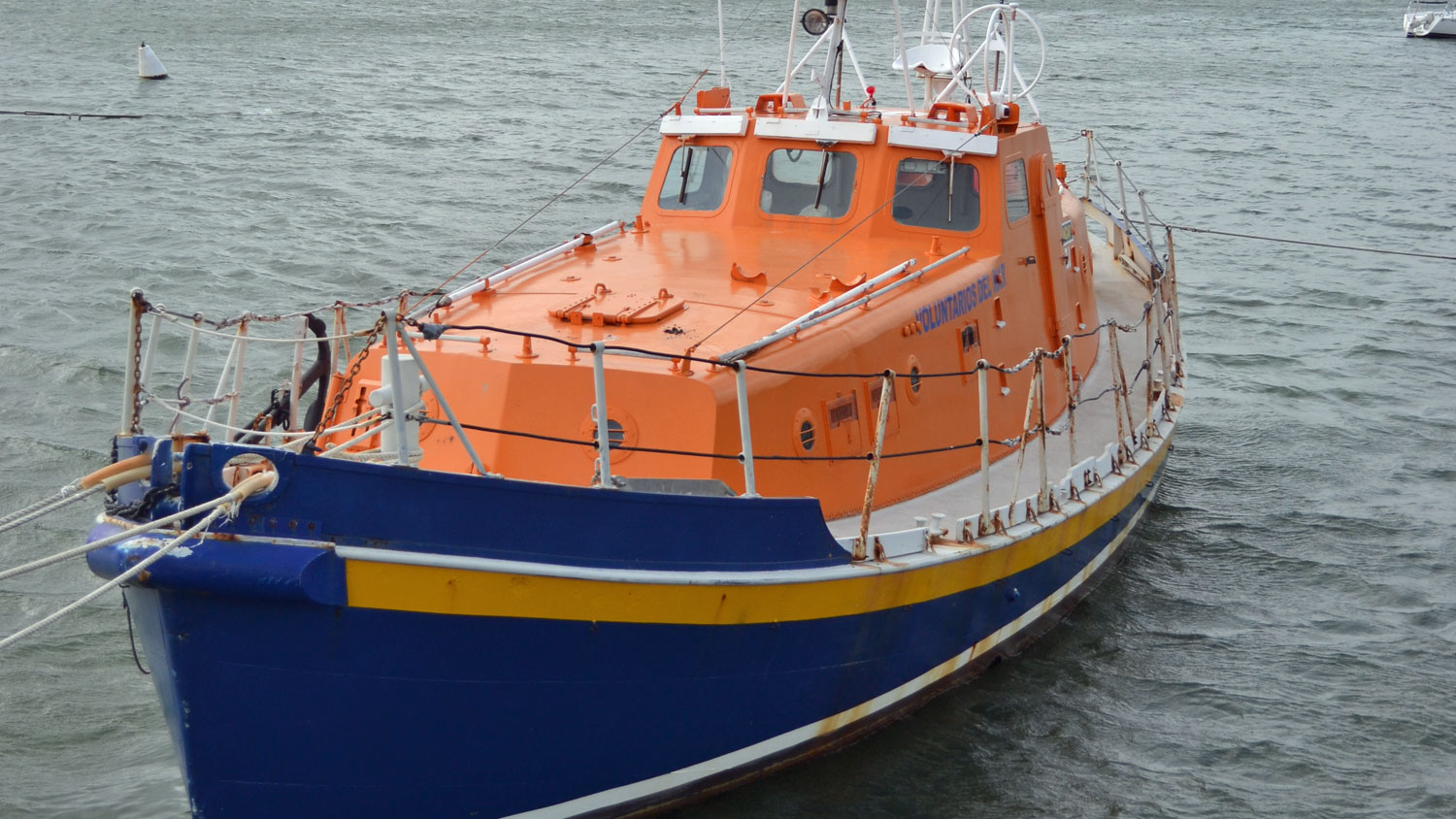 An all-weather lifeboat used by ADES rescue volunteers in Uruguay