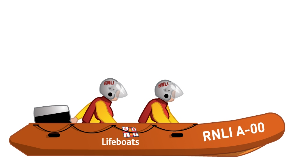 Illustration of the RNLI inshore rescue boat