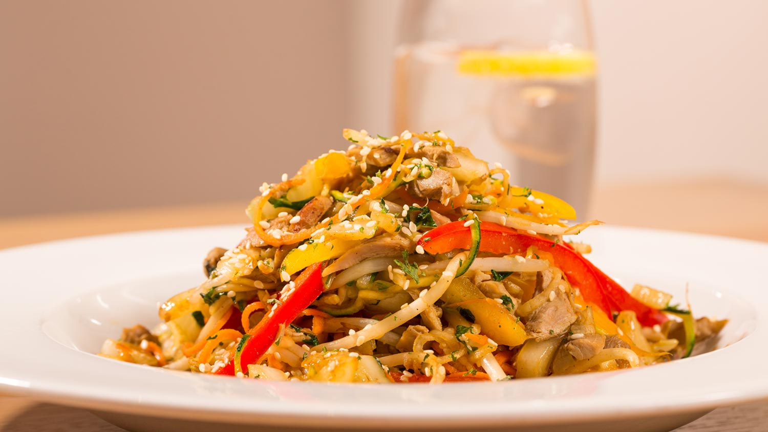 This stir fry brings international flavour to the RNLI College