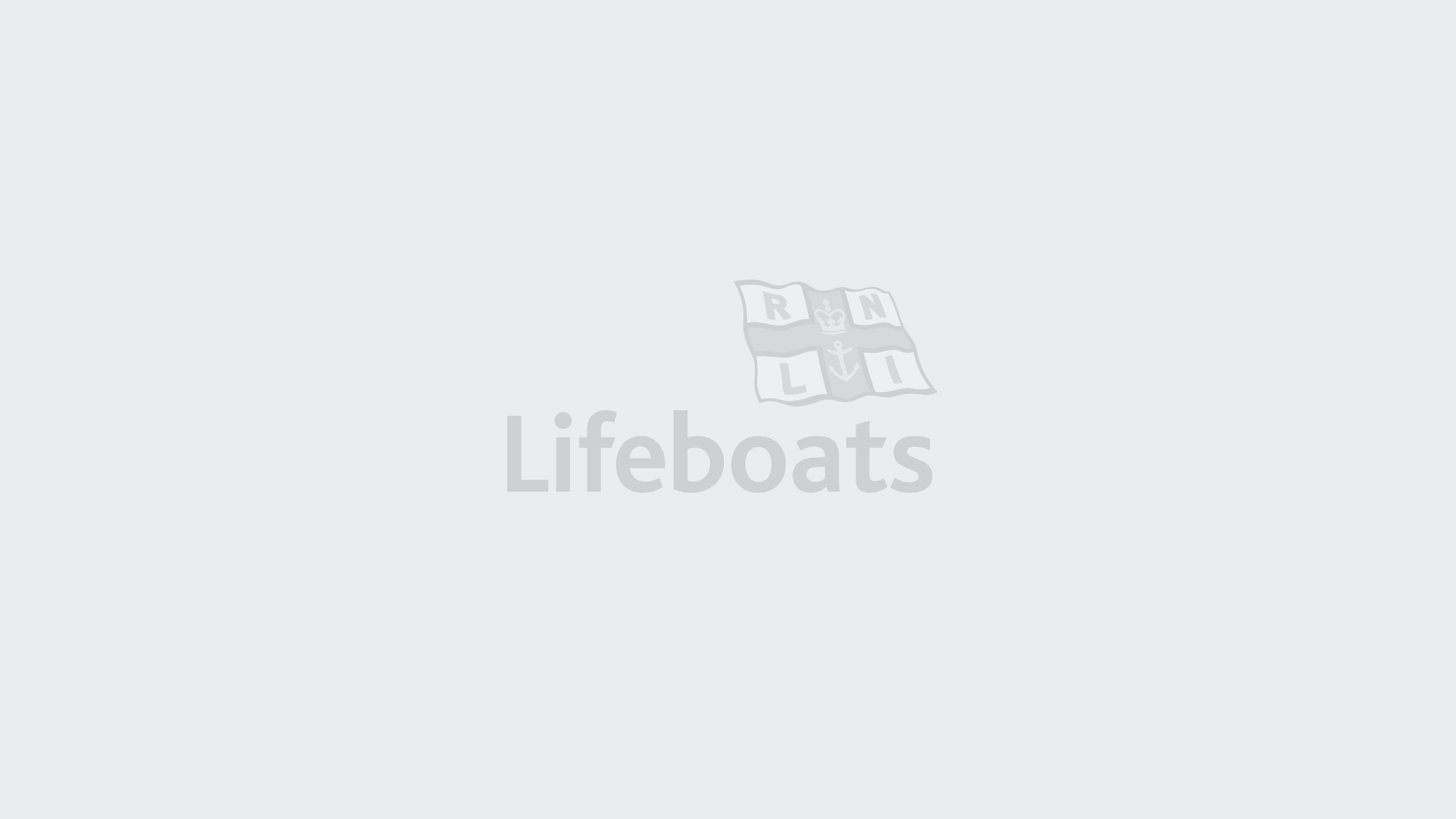 RNLI placeholder image: a grey background with a darker grey RNLI LIfeboats logo in the centre