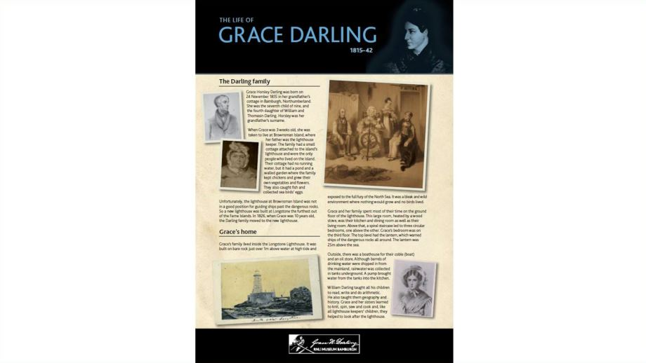 Previiew of the Grace Darling Fact Sheet PDF