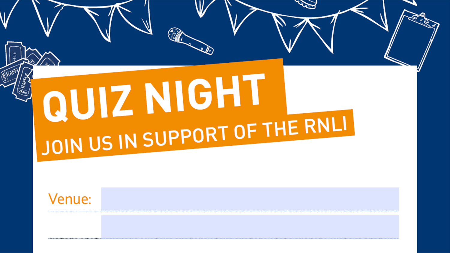 RNLI quiz night poster