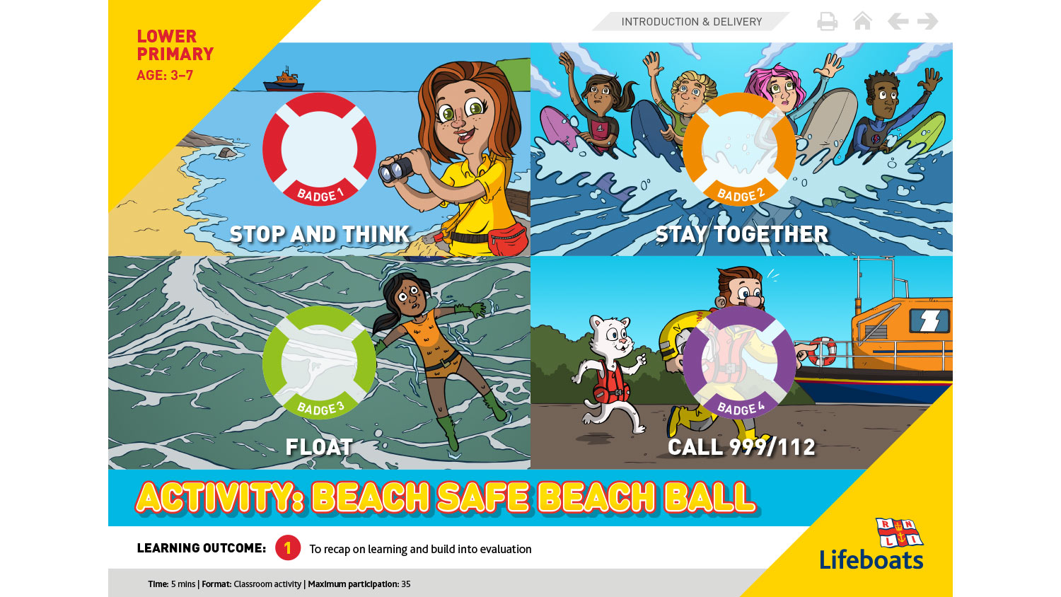 Beach safe beach ball